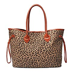 This small size light brown tote bag is a perfect gift for your friends,Well made and Light weight. Its great using for traveling,beach trip,camping,work and shopping. Large capacity handbag,You can put your wallets,small cosmetic bags, Laptop and da...