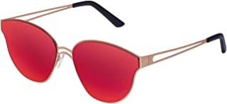 Hawkers Men's GOLD RED OMNIA ON07 Oval Sunglasses, Red, 12 mm