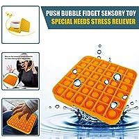 プッシュバブルフィジェット感覚玩具自閉症特別支援ストレスリリーフ玩具おかしい子供ポピットゲーム玩具