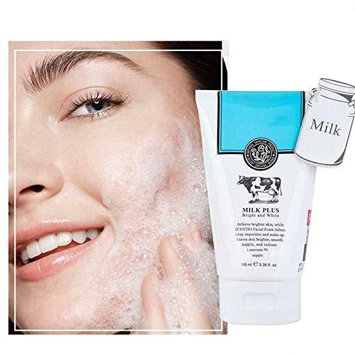 Espuma Limpiadora Facial Blanqueadora Q10 Blanco Brillante, Exfoliante Para Lavado De Cara Para La Piel Con Acné Y Reducción De Arrugas, Limpiador Facial Con ácido Salicílico