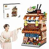 Japanese Street View Shop Bricks, Mini DIY Building Blocks Model MOC...