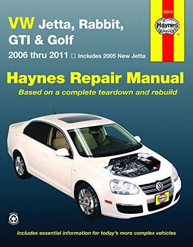 VW Jetta, Rabbit, GTI & Golf 2006 Thru 2011 Haynes Repair Manual: 2006 Thru 2011 – Includes 2005 New…