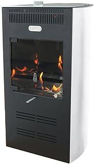 Tecno Air System Estufa bioetanol 3000W Ventilata 3Velocidad Blanca Calefacción Ruby Elegance