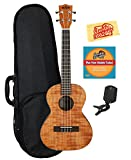 Kala KA-TEM Exotic Mahogany Tenor Ukulele Bundle with Hard Case, Tuner, Austin Bazaar Instructional DVD, and Polishing Cloth
