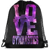 senob Love Gymnastics Mochila con cordón de Gimnasio portátil Unisex Mochilas de Hombro Ligero Deporte de Viaje Yoga Mochila