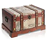 Brynnberg - Caja de Madera Cofre del Tesoro Pirata de Estilo Vintage, Hecha a Mano,...