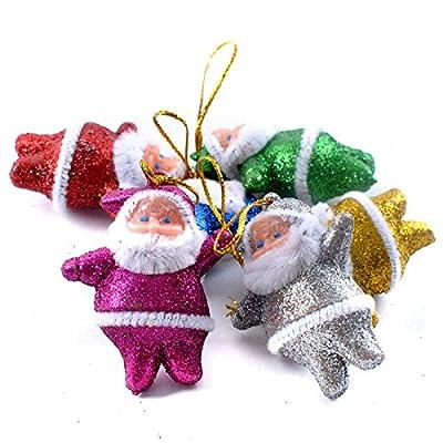 YanHoo 6PC Colorful Christmas Santa Claus Ornaments Xmas Tree Hanging Decoration