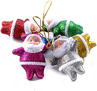Xmas Doll Pendant Hanging Decoration Santa Clause Tableware Holder Pocket Dinner Cutlery Bag Snowman Santa Claus Elk the Red Nosed Reindeer Figures for Christmas Tree Ornaments