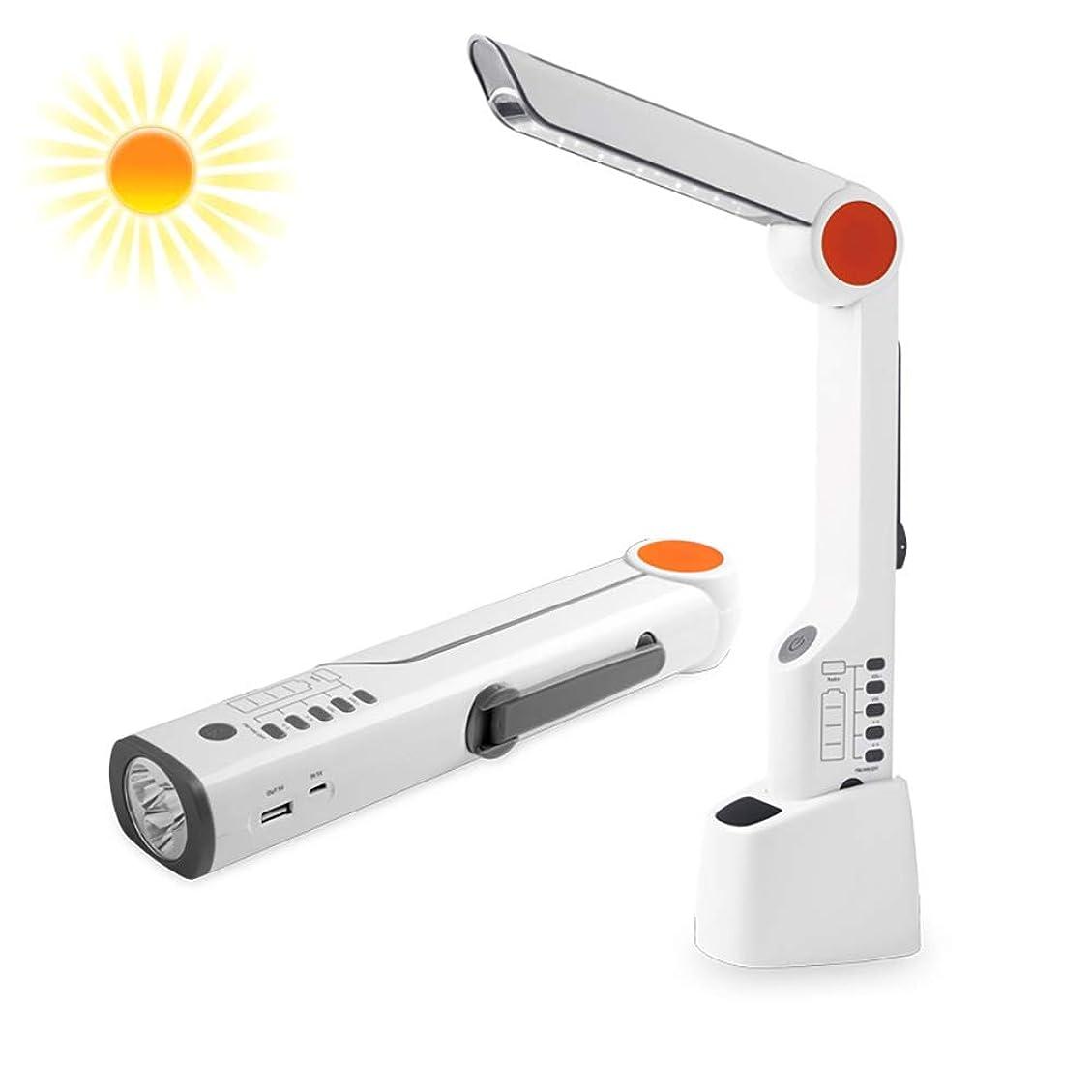 多機能太陽ハンドクランクFMラジオ、緊急LED懐中電灯充電式USB点滅アラームモバイル電源、旅行のための、キャンプ