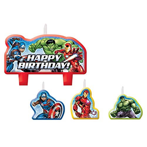 Avengers Birthday Cake Candle Set (4 Pieces)