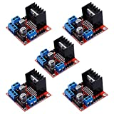 Electrely 5Pcs L298N Motor Drive Dual H Bridge DC Stepper Controller Board Module per Arduino Robot Smart Car