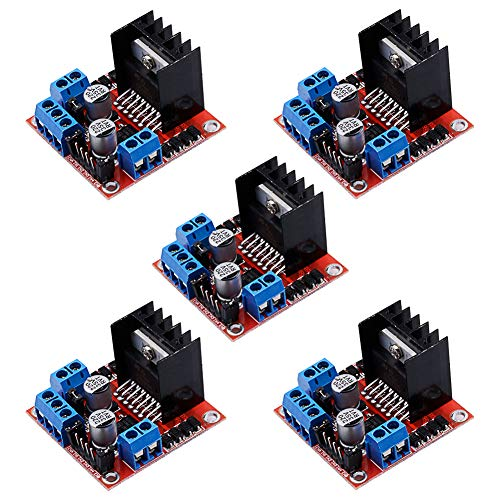 Electrely 5 Stück L298N Dual H-Brücke Motorantrieb Controller Board DC Stepper Motor Drive Module für Arduino Roboter Smart Auto