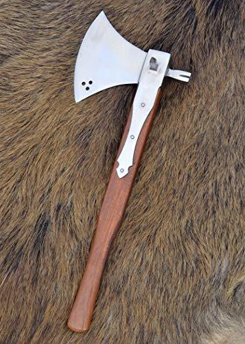 Schlachtaxt mit Hammer, 16. Jahrhundert, 44cm ULFBERTH Mittelalter Wikinger Reeactment Axt Axe - 3