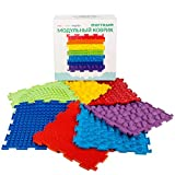 Rainbow Set of Sensory Mat Massage Game Mats for Kids Orthopedic Massage Puzzle Floor mats