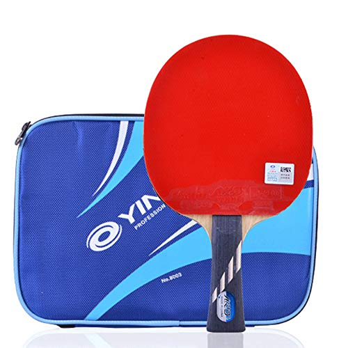 For Sale! Professional Table Tennis Bat, 5 Layers of Wood, 2 Layers of Carbon Fiber Ping Pong Bat, S...