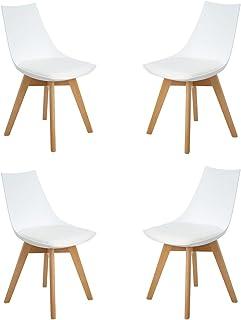 Design retr/ò con sedie Set di 2 sedie da Giardino EGOONM in Legno di Beech