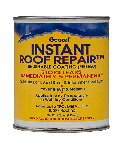 Geocel 25200 Instant Roof Repair Brushable Coating, 1 qt, Clear