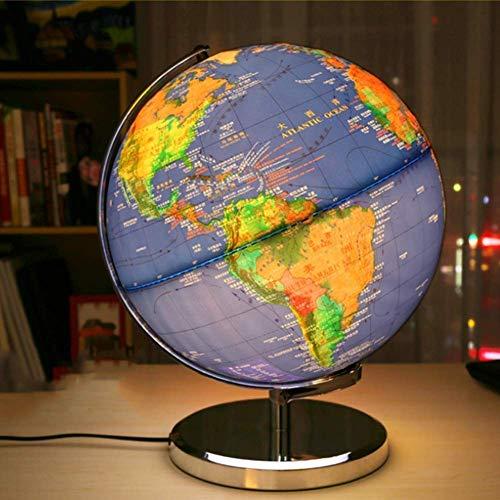 Yhtech Explorar el mundo cóncavas y convexas en relieve globo luminoso de Metales Comunes del Estudiante GLOBE lámpara topográfica, 12 Pulgadas, Modelo JSL060 Adecuado para el hogar, oficina, estudio.