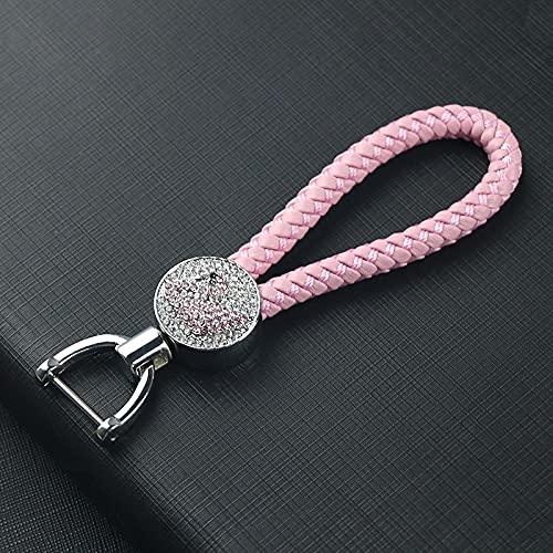SZLGPJ Coche Cisne Llavero Coche Diamante Llavero Hembra Tejida Bolsa Colgante Regalo cm Pink Swan with Diamonds