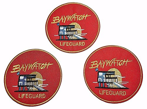 3 Pack of Baywatch Lifeguard Sunset Patches