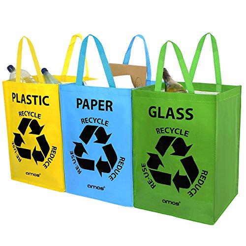 AMOS Set de 3 Bolsas Reutilizables 53L