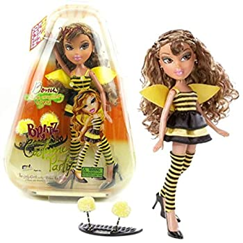 MGA Entertainment Bratz Costume Party Series 10 Inch Doll - YASMIN in Bumblebee Outfit with Earrings and Bonus Costume Accessory for You