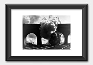LNER Class A3 Pacific Locomotive No. 4472 Flying Scotsman 1985 Poster Black Frame 29.7x42cm (A3) White
