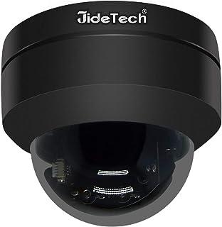 PTZ POE 5MP Cámara de seguridad IP Mini domo Vigilancia H.265 Cámara de alta velocidad Resistente al agua IR Visión nocturna 4X Soporte Zoom óptico Ranura para tarjeta SD Audio bidireccional (externo)