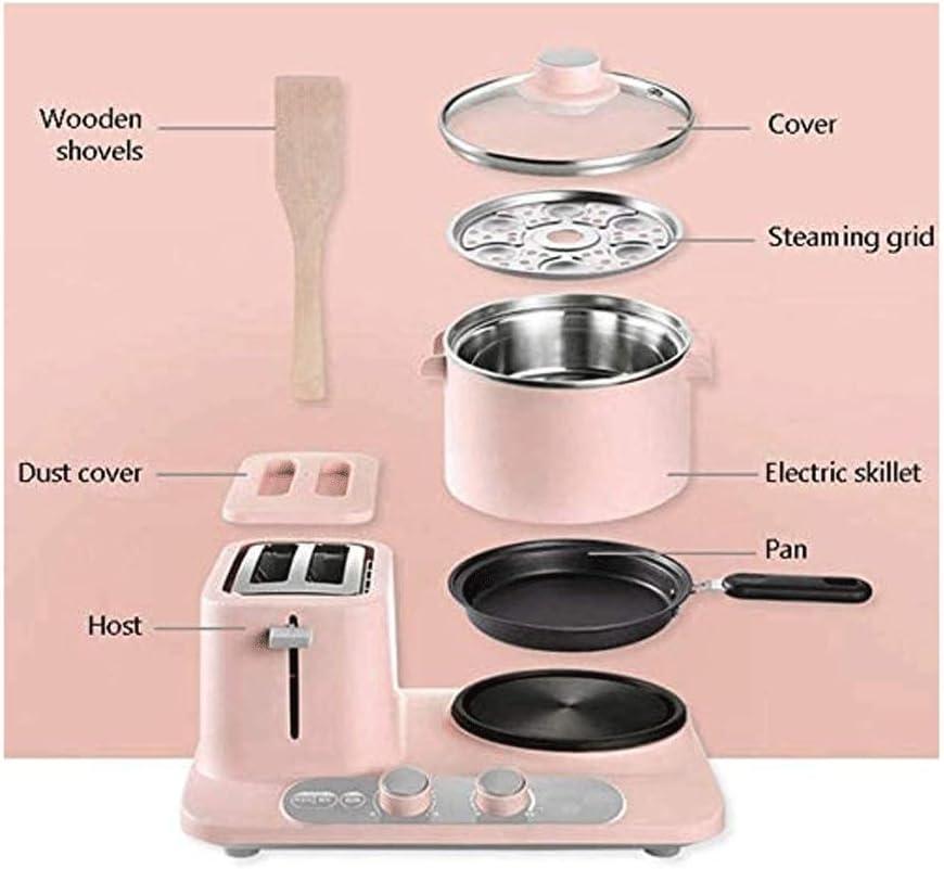 Bdesign Thuisgebruik Deluxe Hot Sandwich Maker, Nonstick platen, roestvrij staal (750W) (Color : Pink) Pink