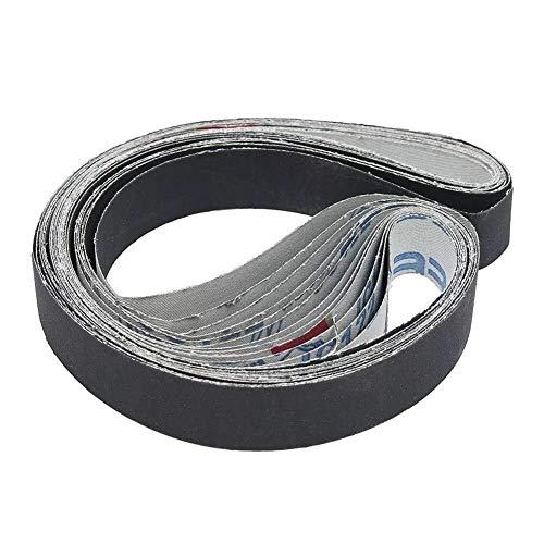 BJLWTQ Herramienta de molienda Cinturones 12pzas 1x30 Pulgadas de Lija de carburo de silicio 400/600/800/1000 Cinturones Granos abrasivos de Lijado