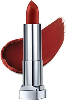 Maybelline New York Color Sensational Creamy Matte Lipstick, The Bricks- City Heat Collection, Noho Amber 6, 3.9g