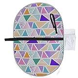 Geometrische ethnische bunte nahtlose Muster Dreiecke Wickelauflage für Mädchen Wickelauflage für Mädchen 27 x 10 Zoll wasserdicht faltbare Matte Baby tragbare Wickelstation Wickelauflage für