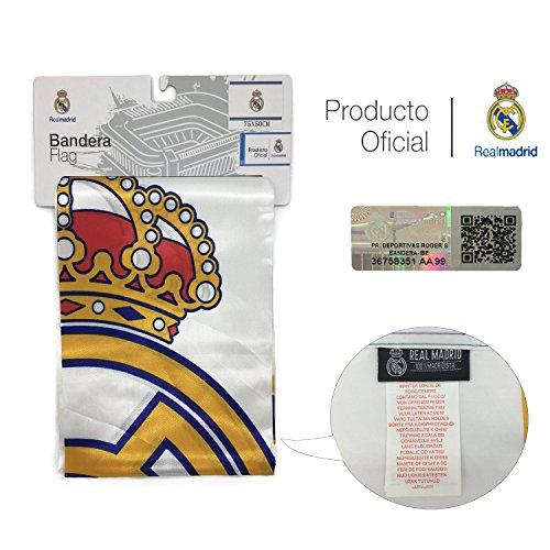 Bandera del Real Madrid (Escudo 50x75 cm)