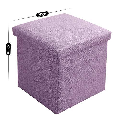 Ottoman Wddwarmhome Coton Tissu Couleur Unie Pliable Tabouret de Rangement Tabouret de Rangement boîte de Rangement des ménages - capacité de Charge maximale 150 kg