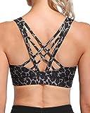 G4Free Sujetador Deportivo para Mujer Camiseta sin Mangas de Yoga Acolchada Camiseta Corta con Camisola Larga para Correr