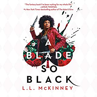 A Blade So Black audiobook cover art