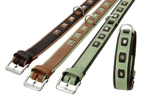 Karlie Waidmanns Heil Halsband 40 mm x 60 cm, grün / schwarz