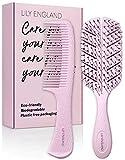 Bio Haarbürste und Haarkamm Set für Damen | biologisch abbaubare Paddle Brush Entwirrbürste &...