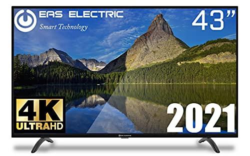 "EAS ELECTRIC | E43AN90J | Televisor Negro | Televisión 43 pulgadas | Smart TV 43"" | LED (DLED) | Ultra HD 4K 3840 x 2160 16:9 | DVB-T/T2/C/S/S2 HEVC | WiFi | Android TV | Google Cast | USB 2 | HDMI 3"