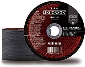 """LINCONSON 50 PACK 4.5 Inch Cut Off Wheel for Metal & Stainless Steel Used On Angle Grinder 4.5""""x1/24""""x7/8"""
