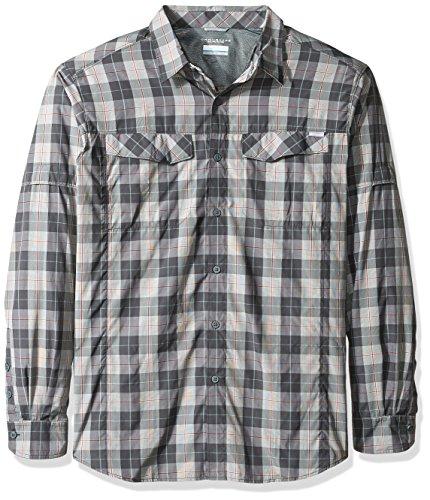 Columbia Silver Ridge Camisa de Manga Larga para Hombre, Hombre, 1441326, Estanque Jaspeado, X-Large Alto