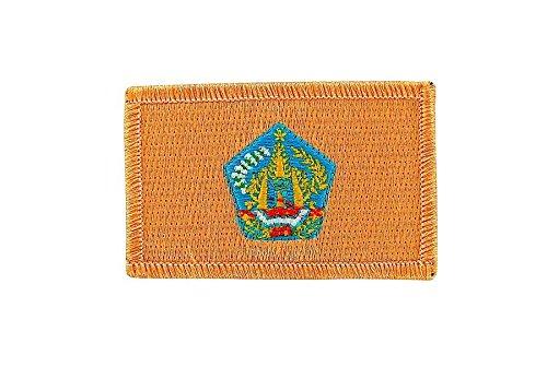 Akachafactory Gesticktes-Aufnäher Patch Flagge Backpack Bali indonesie zum Aufbügeln