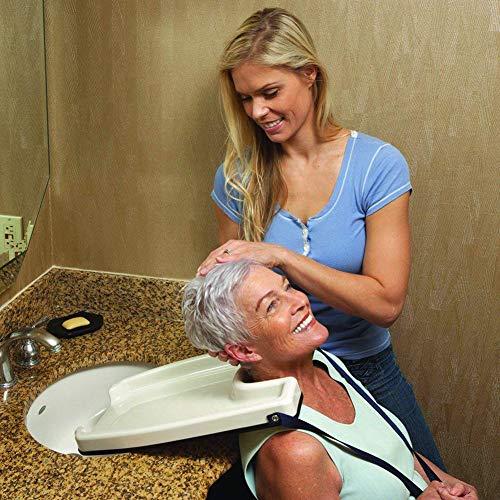 Bewinch Lavabos De Peluquería,portátil se Puede Mover hacia atrás Reducir la Fatiga facilitar la peluquería Lavabo,Conveniente para los Pacientes,Las Mujeres Embarazadas,los Ancianos,barbería