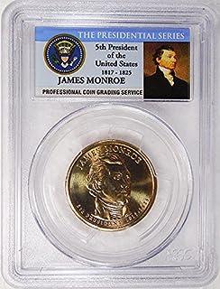 2008 D Pos. A James Monroe Presidential Dollar PCGS MS 66 FDI Presidential Label Holder