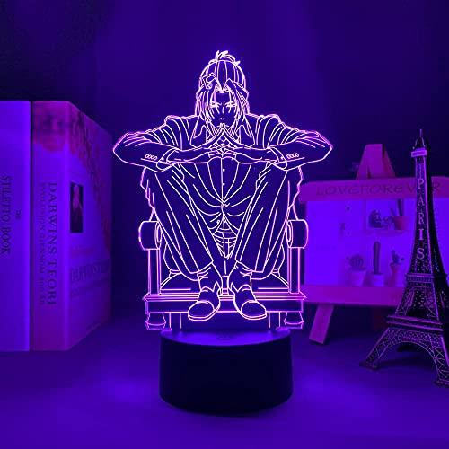 Luz noturna para meninas meninos luz noturna anime lâmpada de iluminação mangá Moriarty The Patriot Sherlock Holmes para decoração de quarto presente Moriarty The Patriot Iluminação de controle remoto
