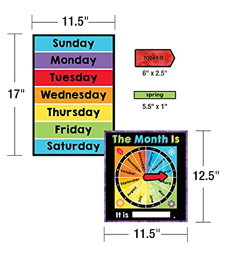 Celebrate Learning Calendar Bulletin Board Set—Colorful Calendar, Monthly Headers, Days of the Week, Seasons, Birthdays, Special Occasions, Weather Chart (86 pc) Photo #4