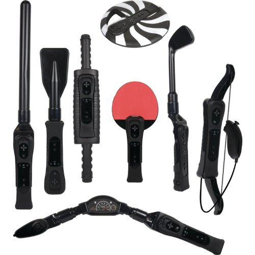 CTA Digital Wii Sports Resort 8-in-1 Sports Pack (Black)