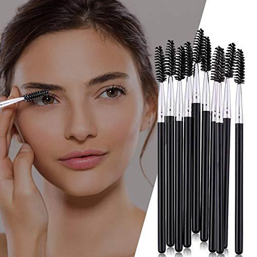 Yanten Pinceaux pour Les Cils Baguettes De Mascara pour Les Sourcils 10Pcs Pro Brosses pour Éponge À Paupières Pro Set Applicateur De Cils Cosmétique