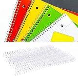 20Pcs Anello di Rilegatura in plastica, 30 Fori di Anelli in plastica a Fogli Staccabili Anelli a Spirale a Molla per Carta A4(19mm Trasparente)