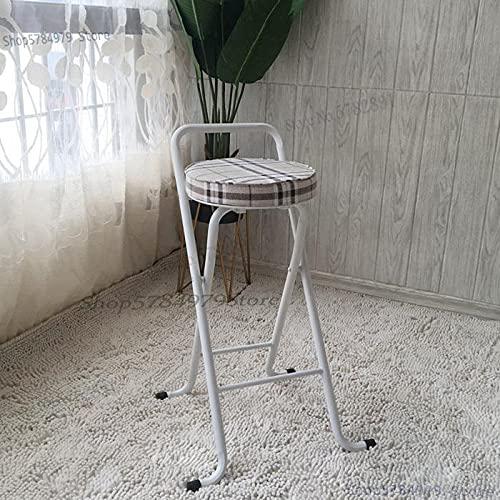 YINGGEXU Taburete alto taburete de bar silla plegable portátil taburete de pesca para el hogar simple y moderno taburete de bar trasero silla de ocio (color: lavanda)